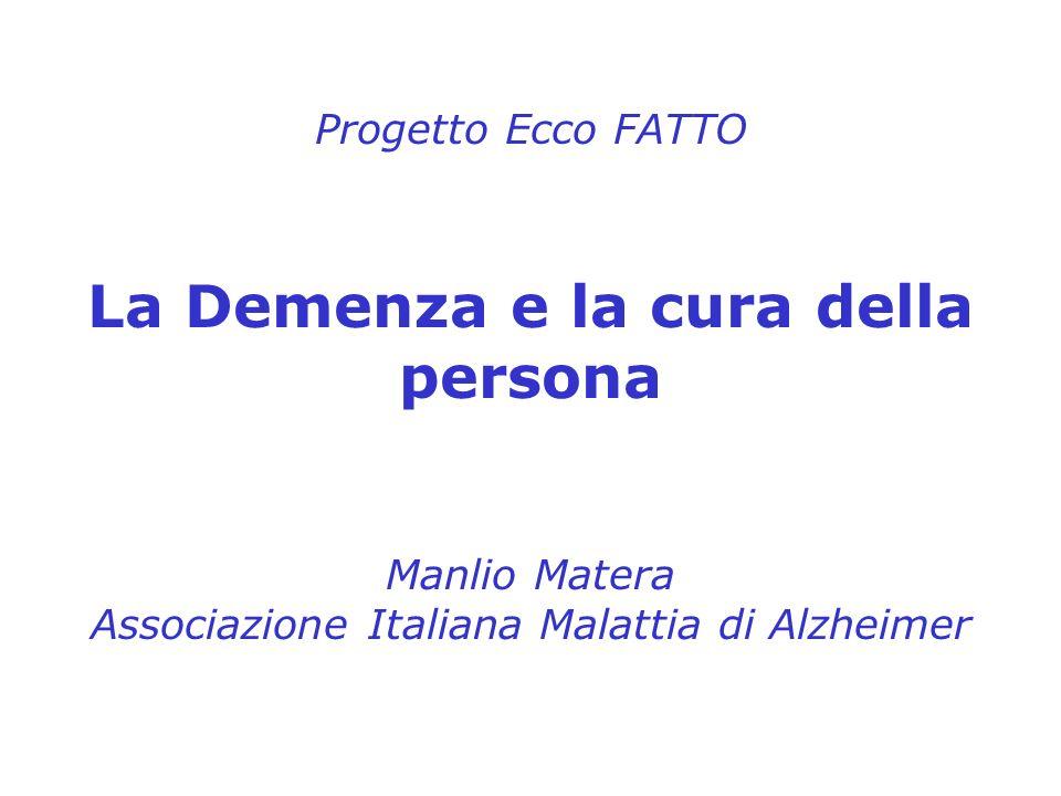 La Demenza e la cura della persona