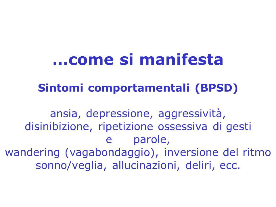 Sintomi comportamentali (BPSD)