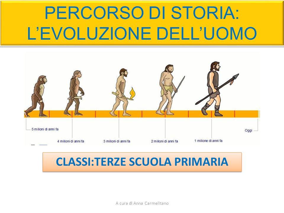 PERCORSO DI STORIA: L'EVOLUZIONE DELL'UOMO