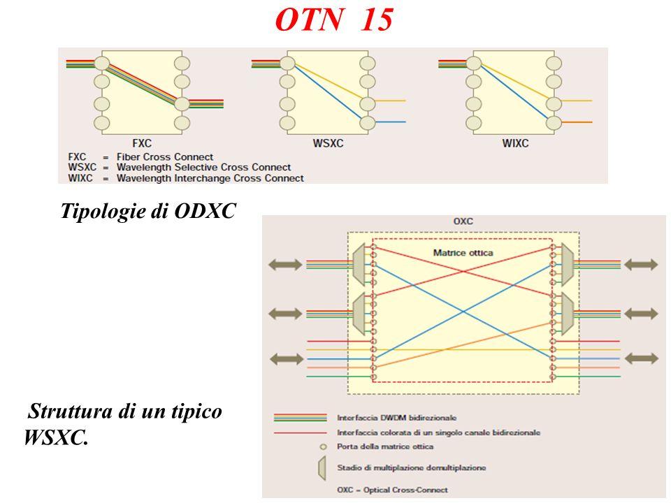 OTN 15 Tipologie di ODXC Struttura di un tipico WSXC.