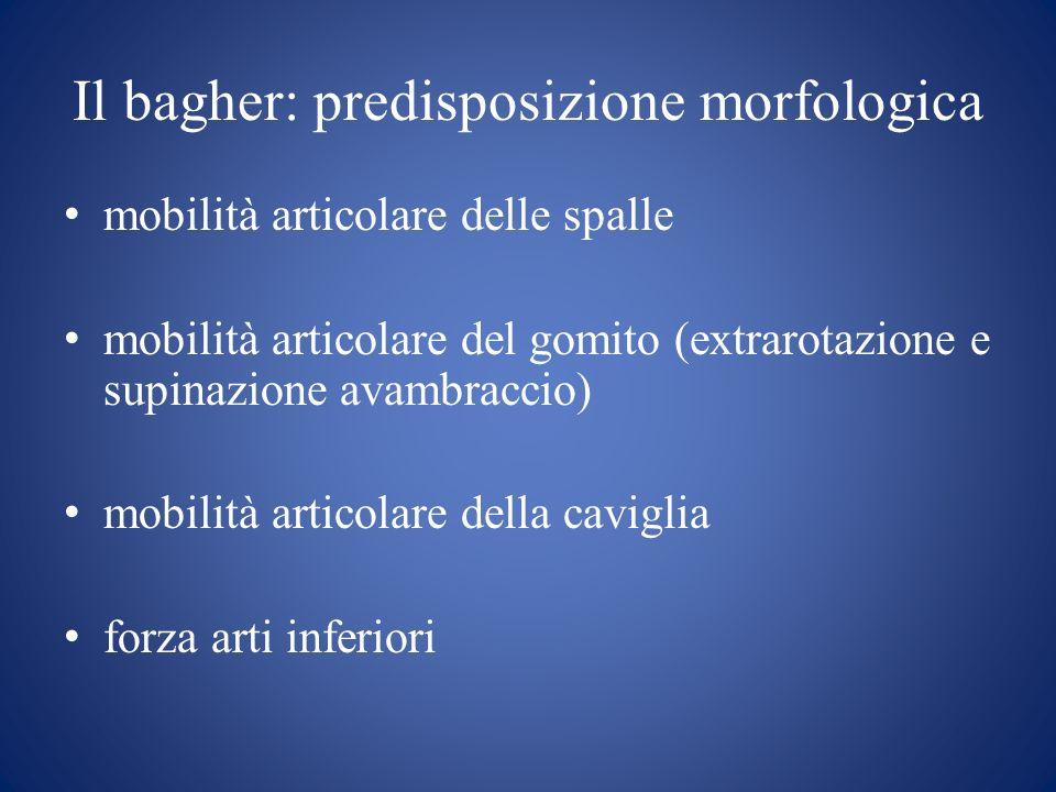 Il bagher: predisposizione morfologica