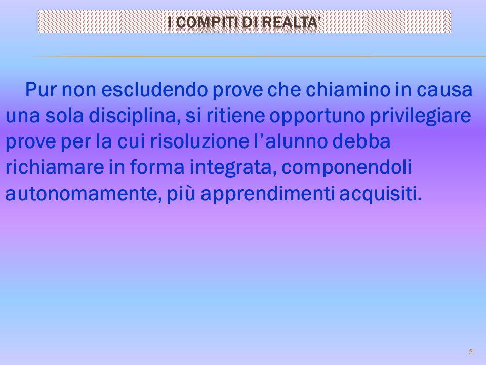 I COMPITI DI REALTA'