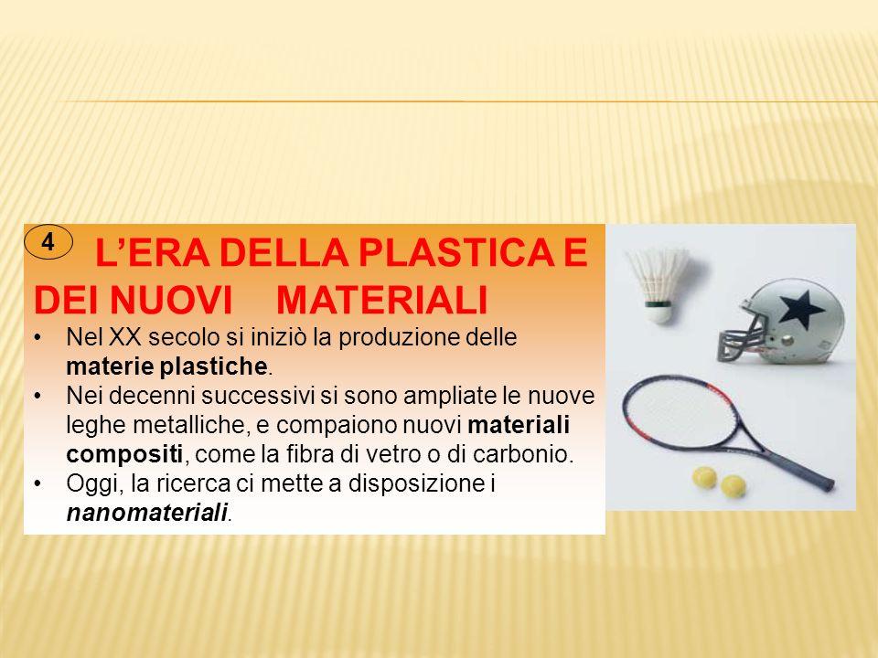 Nel XX secolo si iniziò la produzione delle materie plastiche.