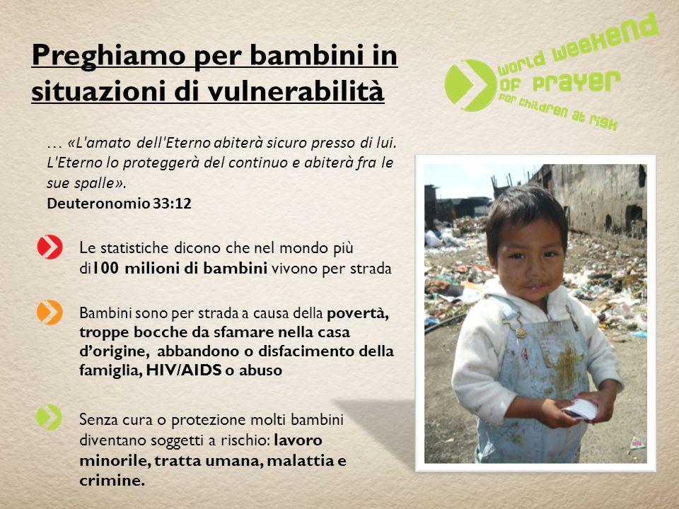 Preghiamo per bambini in situazioni di vulnerabilità