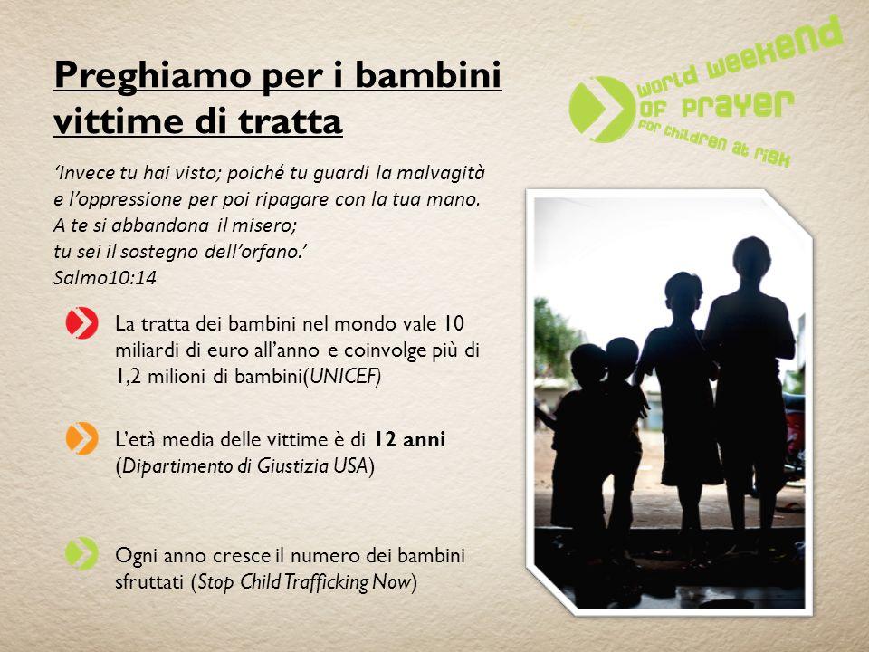 Preghiamo per i bambini vittime di tratta