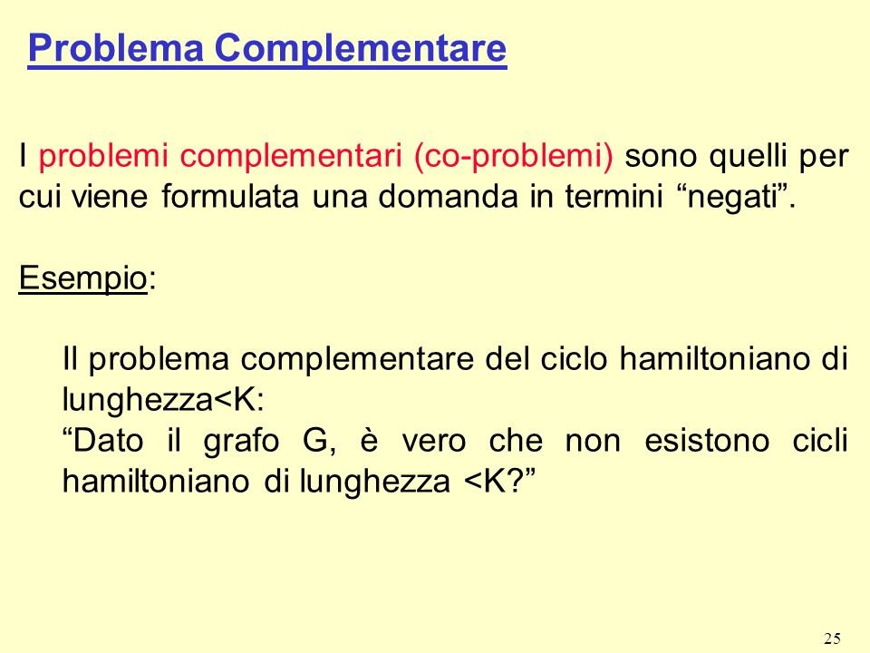 Problema Complementare