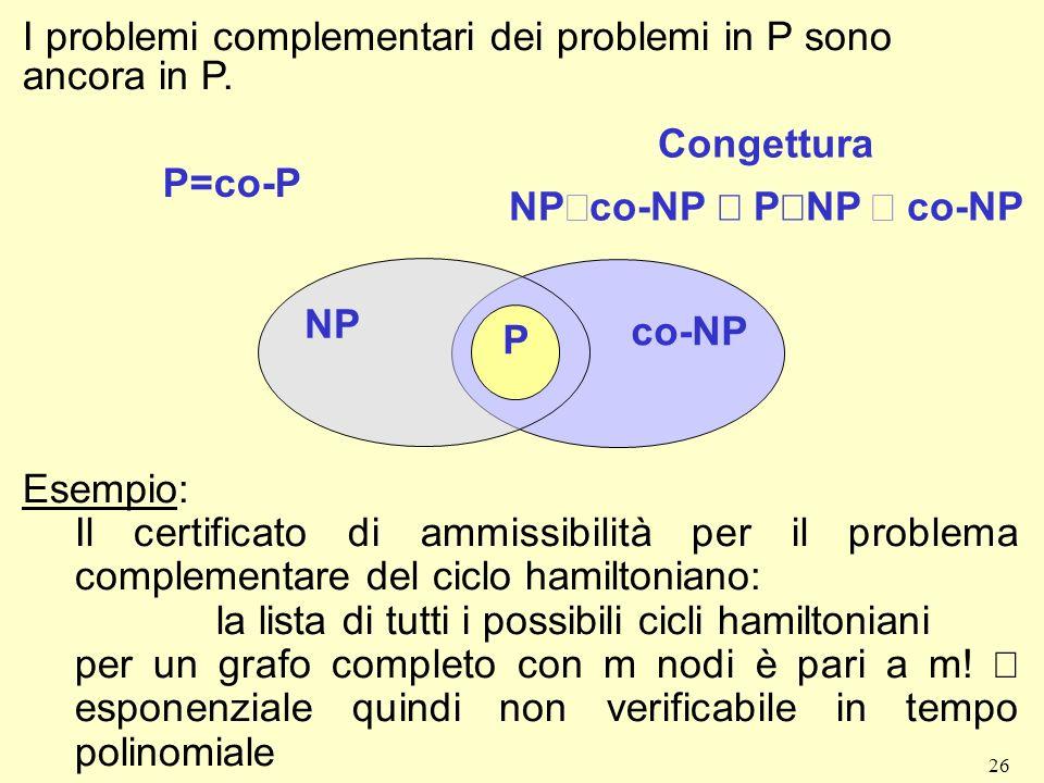 la lista di tutti i possibili cicli hamiltoniani