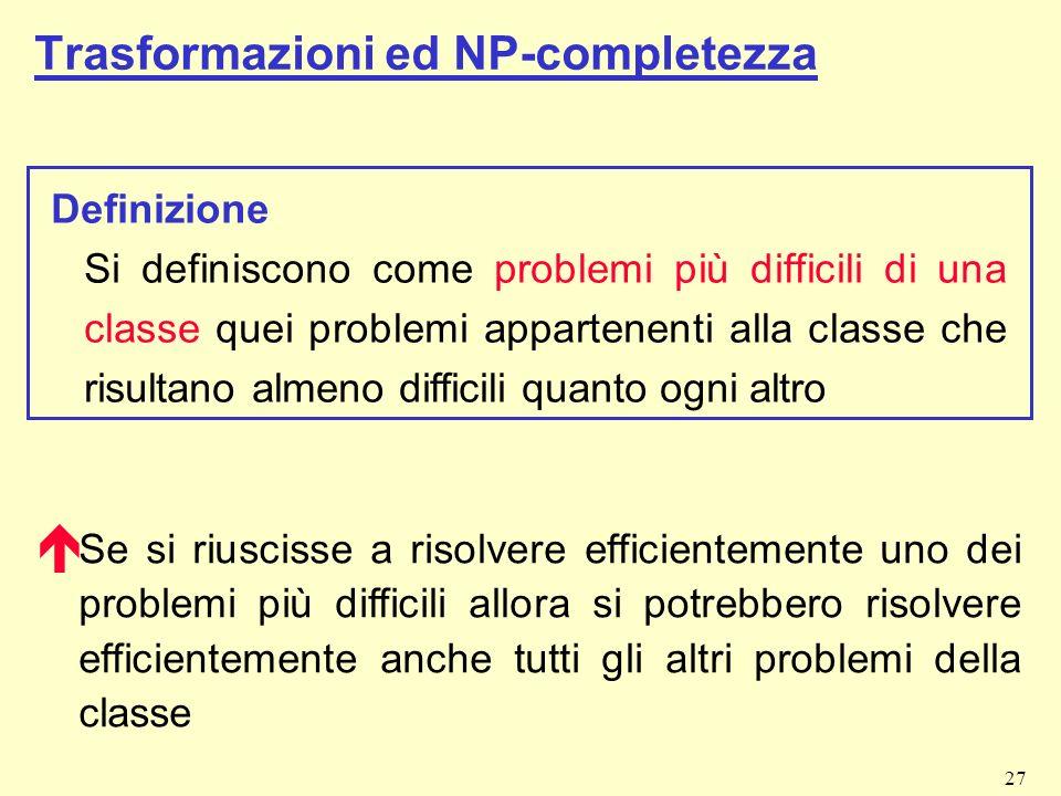 Trasformazioni ed NP-completezza