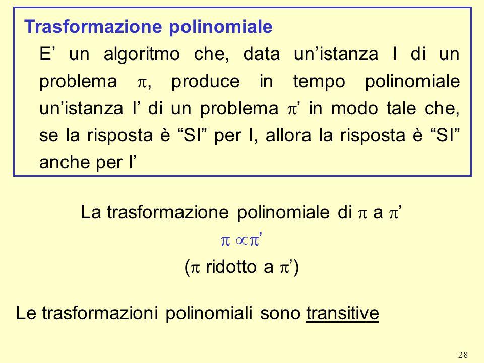 La trasformazione polinomiale di p a p'