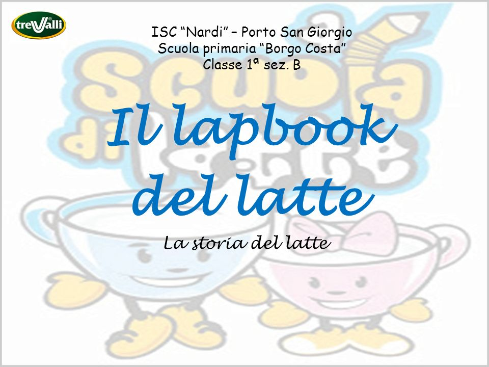 Il lapbook del latte La storia del latte