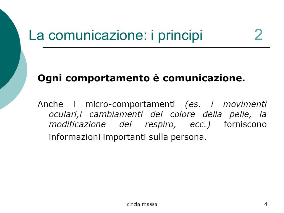 La comunicazione: i principi 2