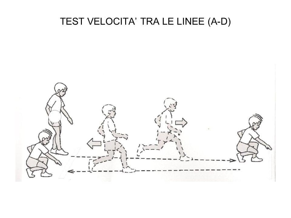 TEST VELOCITA' TRA LE LINEE (A-D)