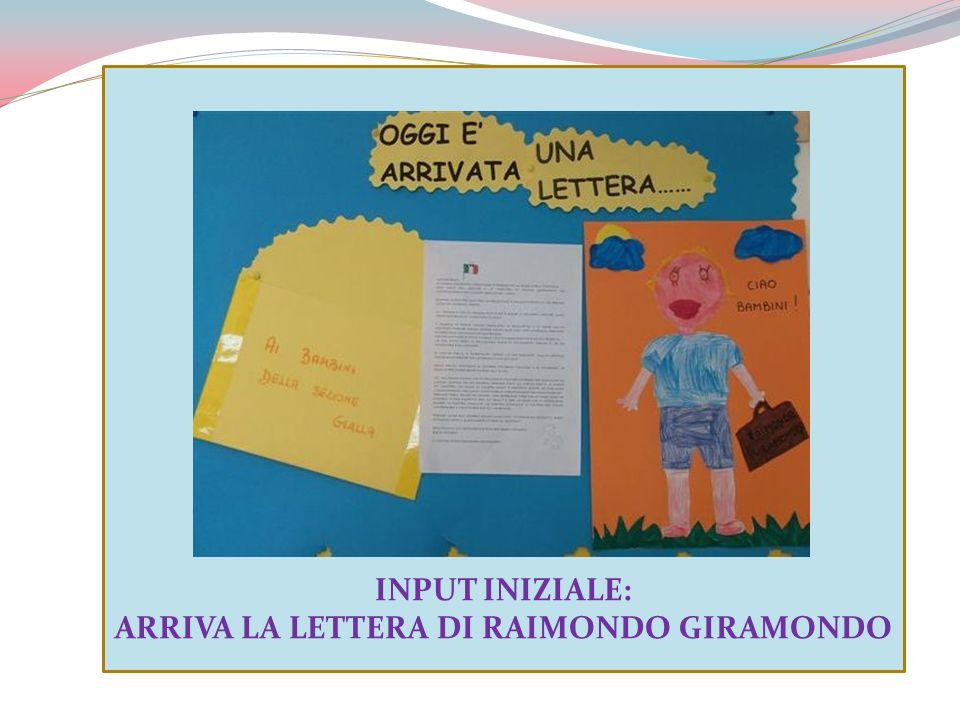 ARRIVA LA LETTERA DI RAIMONDO GIRAMONDO