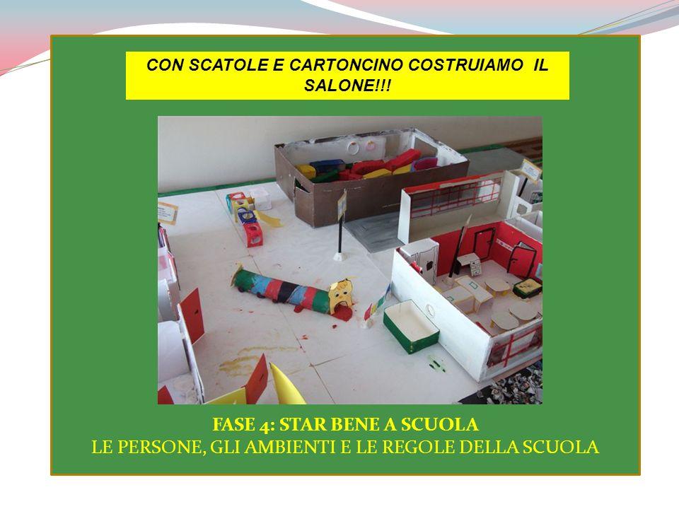 CON SCATOLE E CARTONCINO COSTRUIAMO IL SALONE!!!