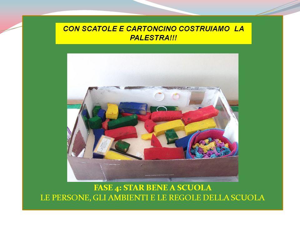 CON SCATOLE E CARTONCINO COSTRUIAMO LA PALESTRA!!!