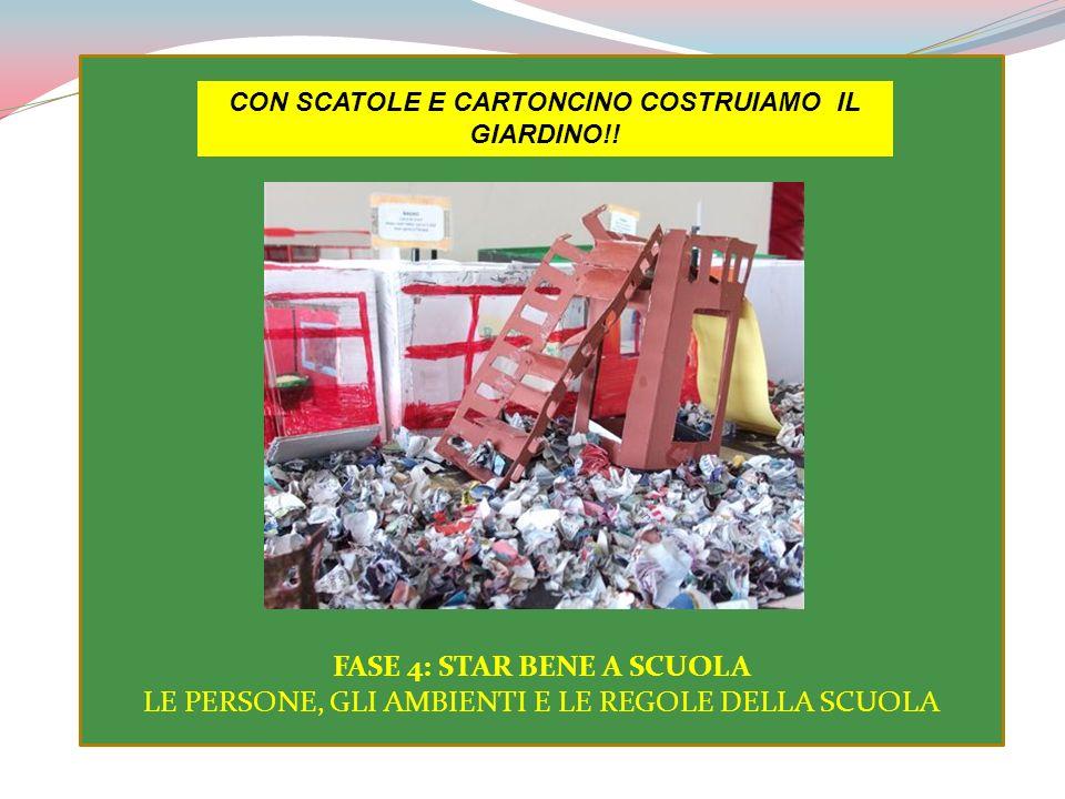 CON SCATOLE E CARTONCINO COSTRUIAMO IL GIARDINO!!