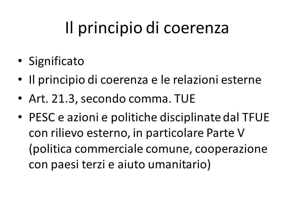 Il principio di coerenza