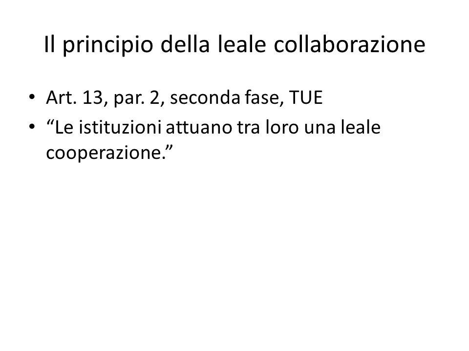 Il principio della leale collaborazione