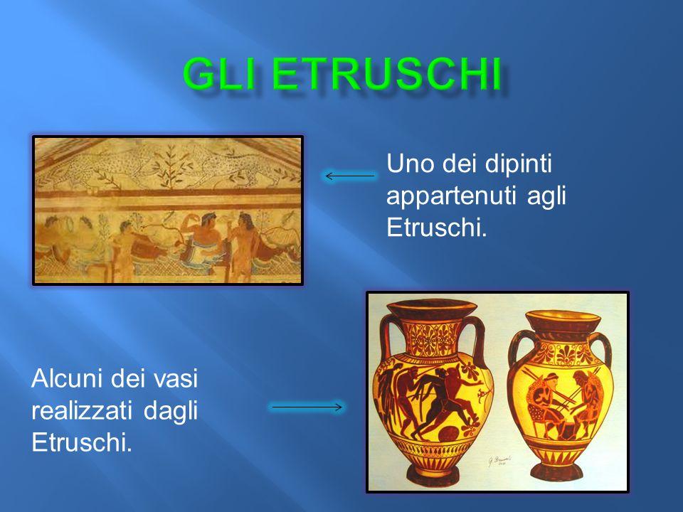 Gli etruschi Uno dei dipinti appartenuti agli Etruschi.