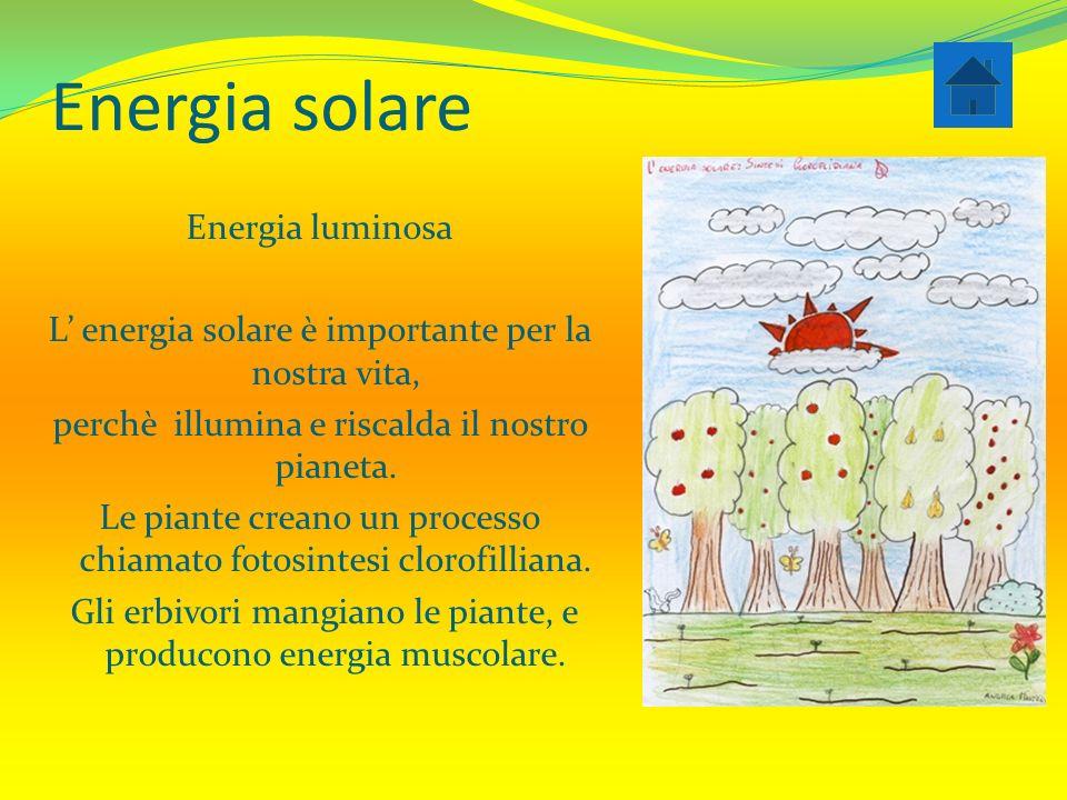 Energia solare Energia luminosa