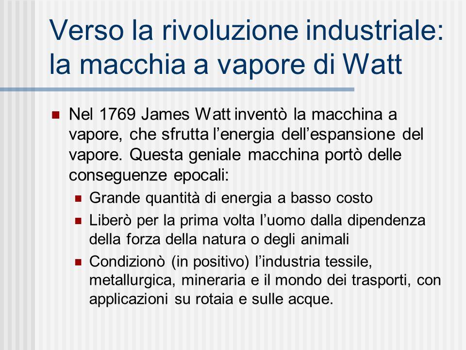 Verso la rivoluzione industriale: la macchia a vapore di Watt