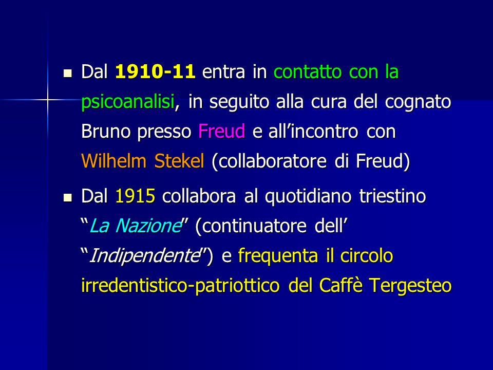 Dal 1910-11 entra in contatto con la psicoanalisi, in seguito alla cura del cognato Bruno presso Freud e all'incontro con Wilhelm Stekel (collaboratore di Freud)