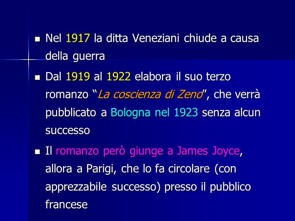 Nel 1917 la ditta Veneziani chiude a causa della guerra