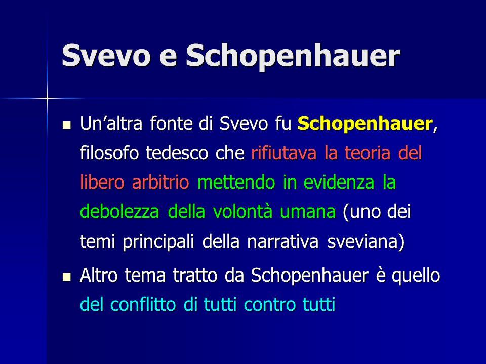 Svevo e Schopenhauer