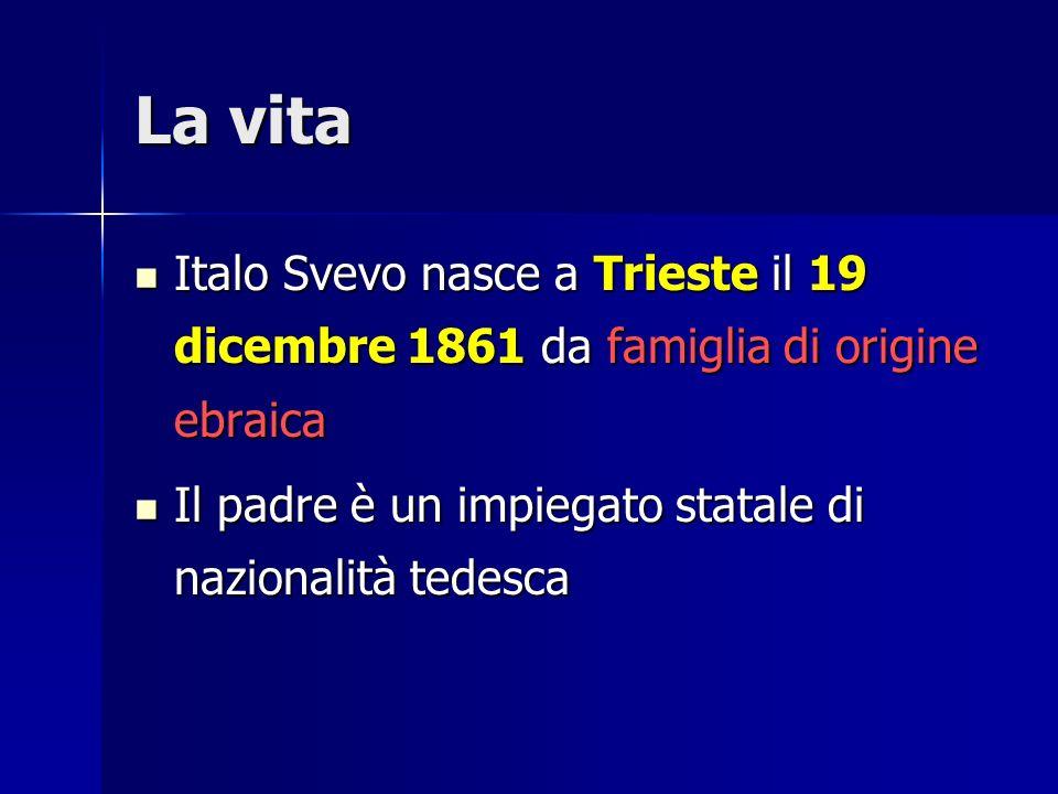 La vita Italo Svevo nasce a Trieste il 19 dicembre 1861 da famiglia di origine ebraica.