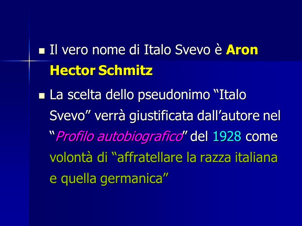 Il vero nome di Italo Svevo è Aron Hector Schmitz