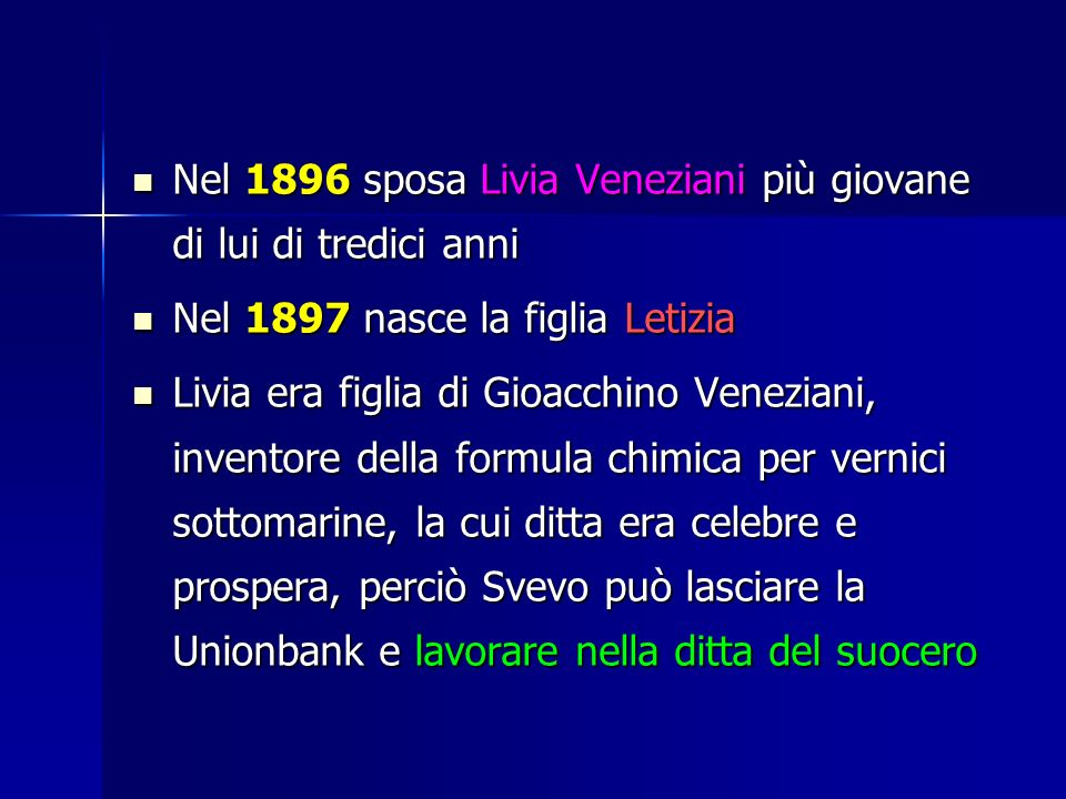 Nel 1896 sposa Livia Veneziani più giovane di lui di tredici anni