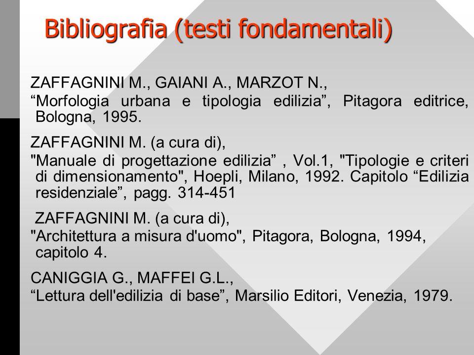 Bibliografia (testi fondamentali)