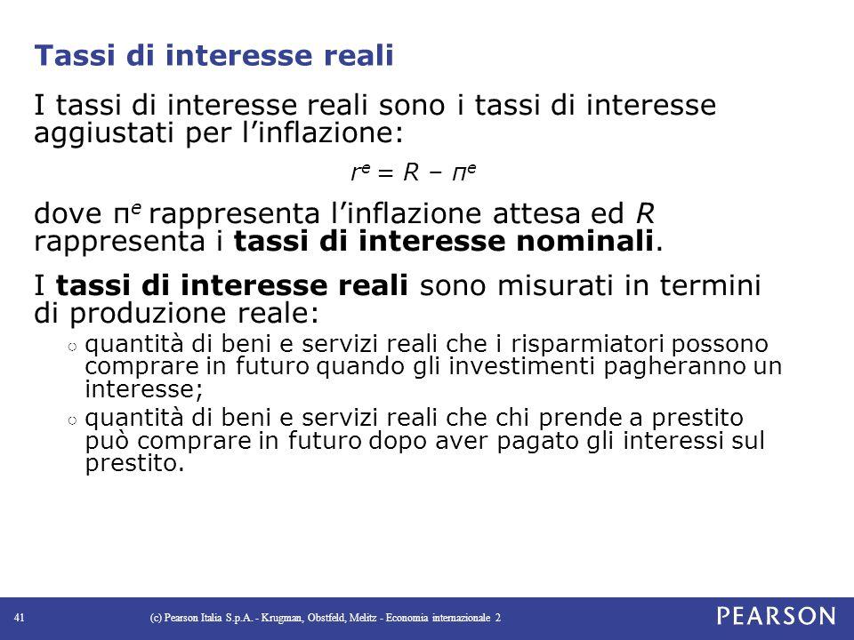 Tassi di interesse reali