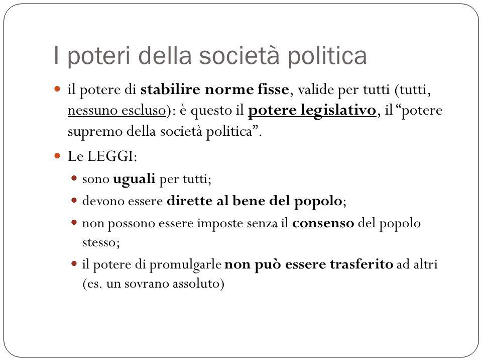 I poteri della società politica