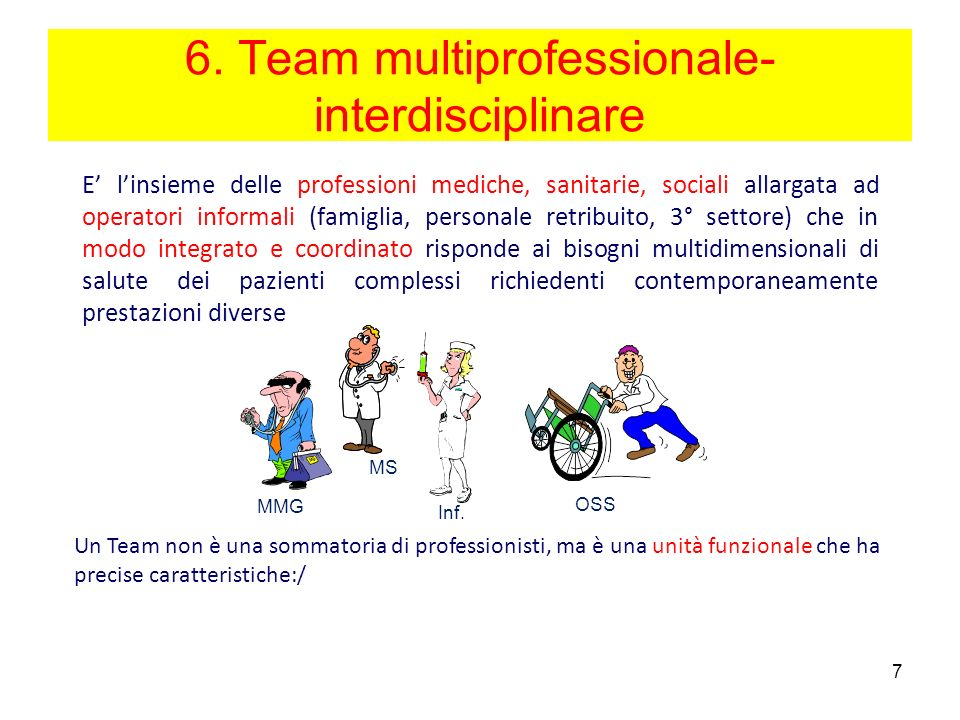 6. Team multiprofessionale-interdisciplinare