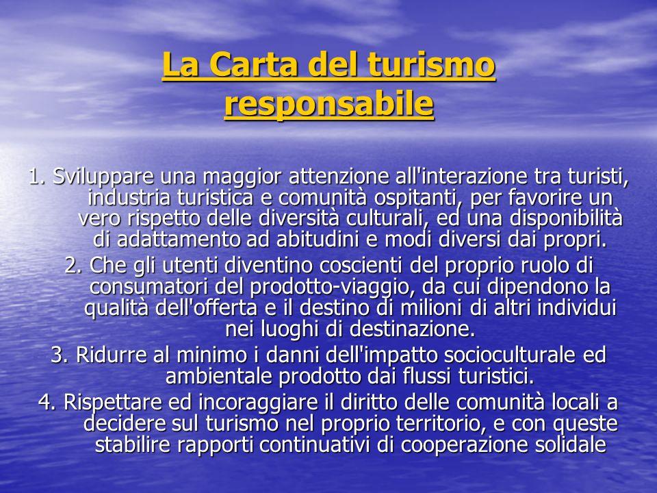 La Carta del turismo responsabile