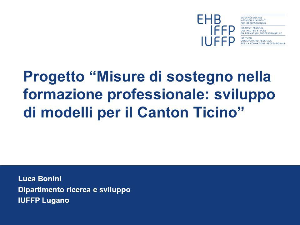 Luca Bonini Dipartimento ricerca e sviluppo IUFFP Lugano