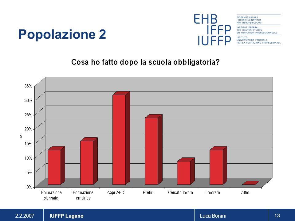 Popolazione 2 IUFFP Lugano