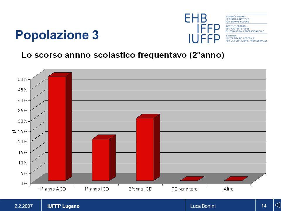 Popolazione 3 IUFFP Lugano