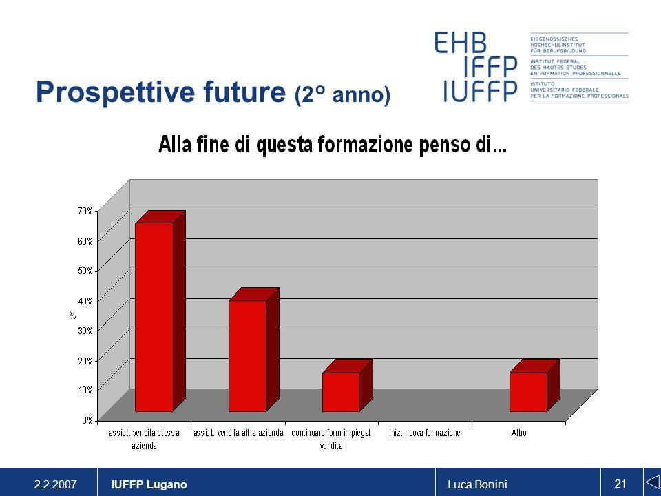 Prospettive future (2° anno)