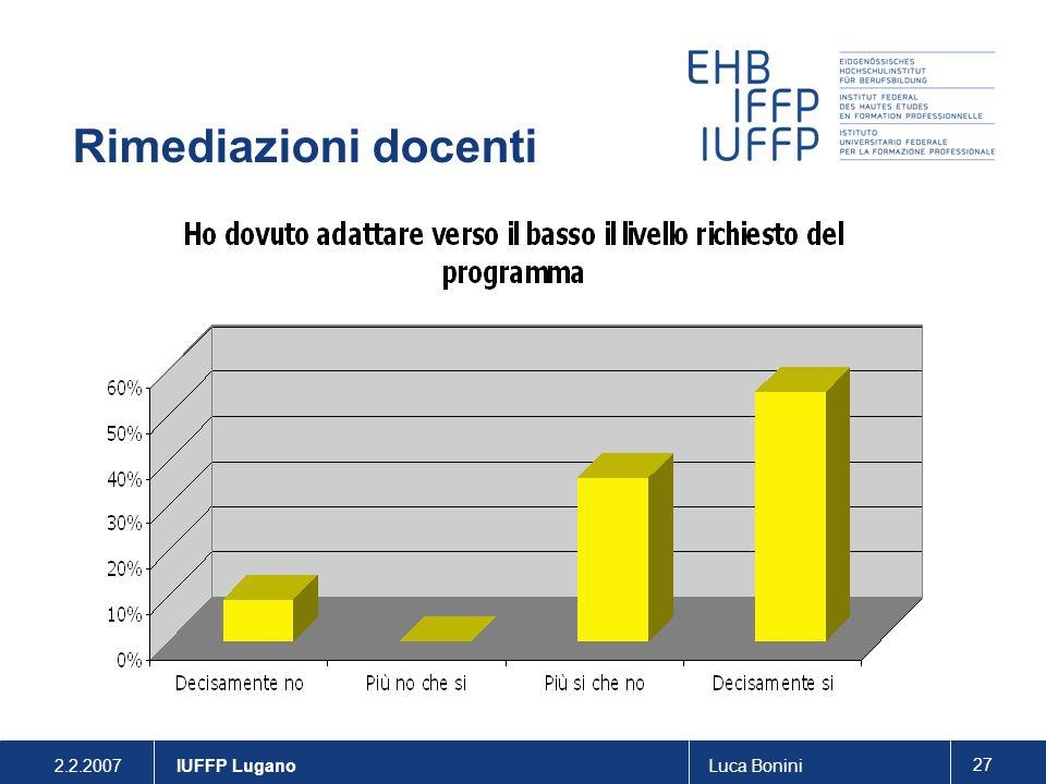 Rimediazioni docenti . IUFFP Lugano