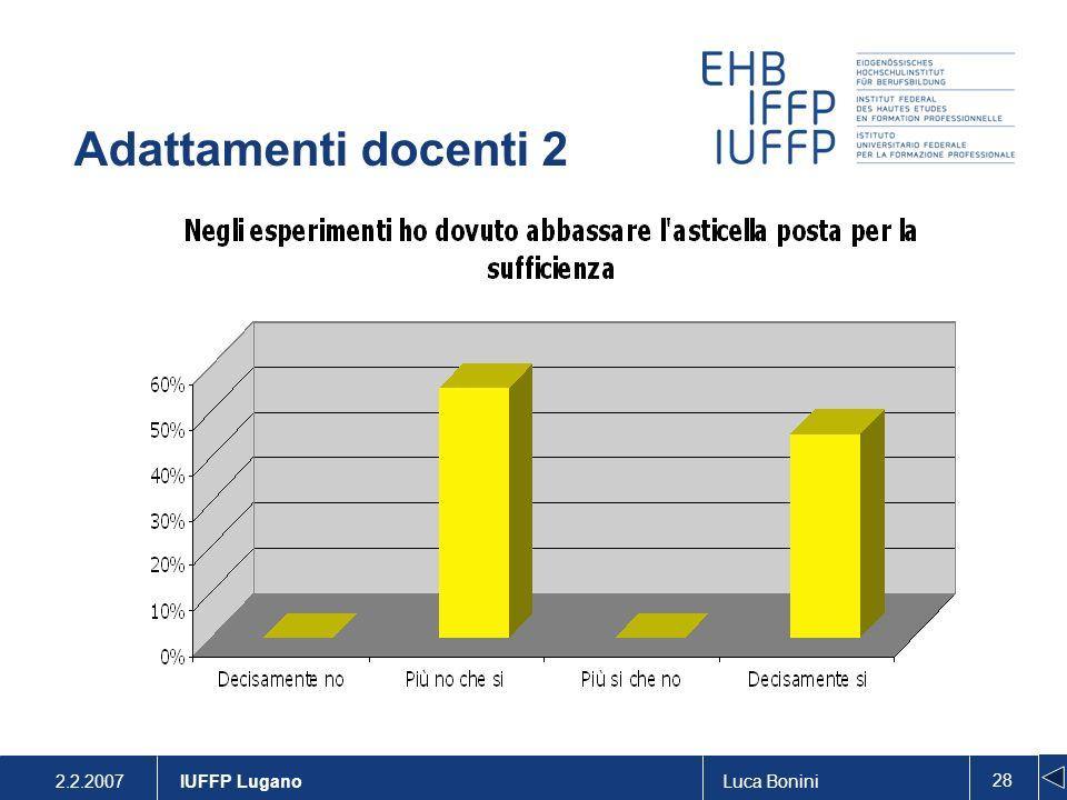 Adattamenti docenti 2 . IUFFP Lugano