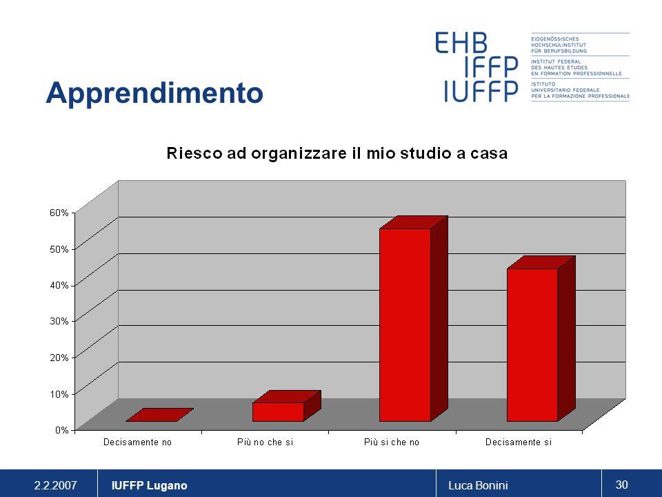 Apprendimento . IUFFP Lugano