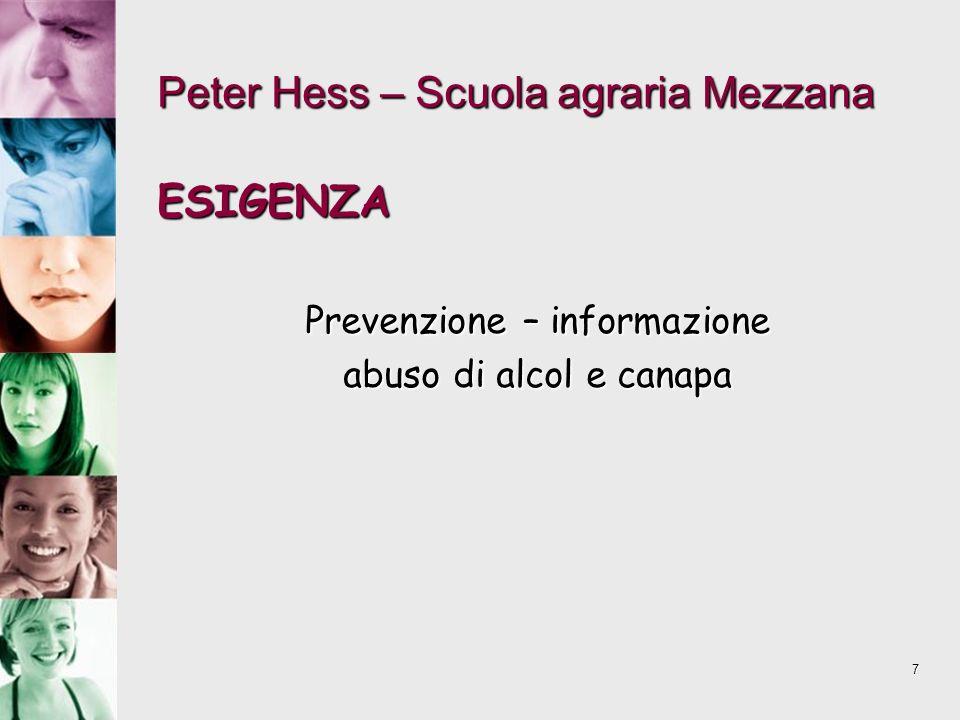 Peter Hess – Scuola agraria Mezzana