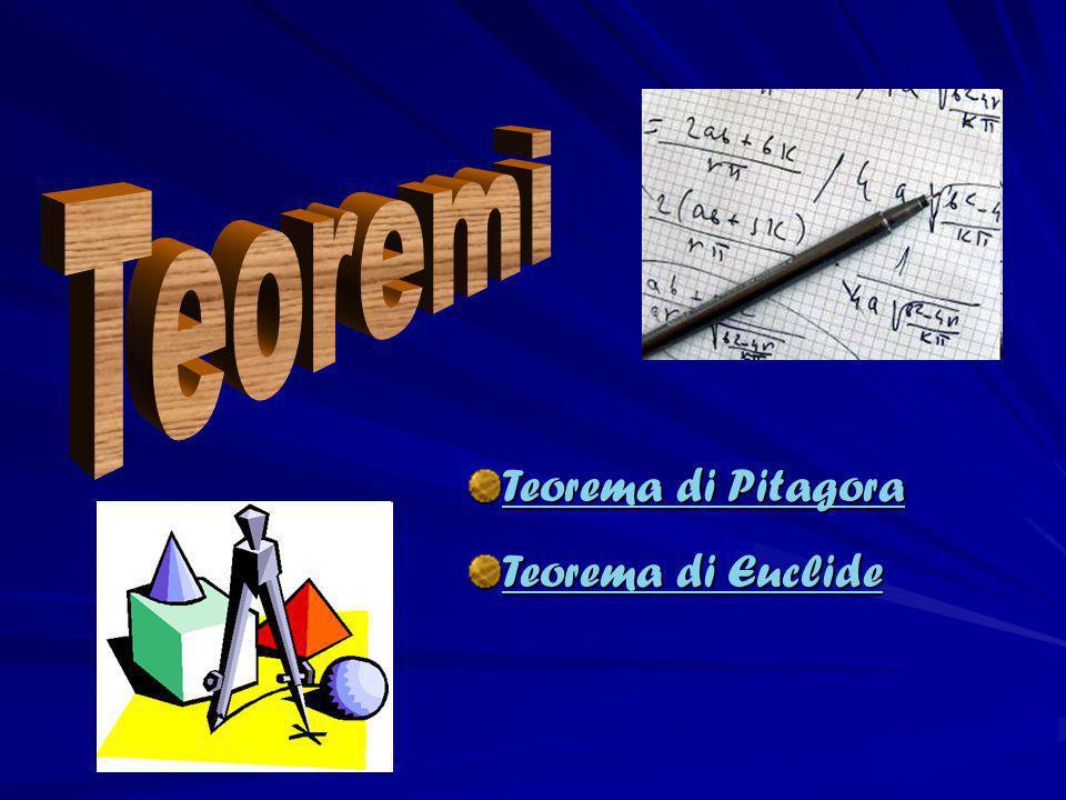 Teoremi Teorema di Pitagora Teorema di Euclide