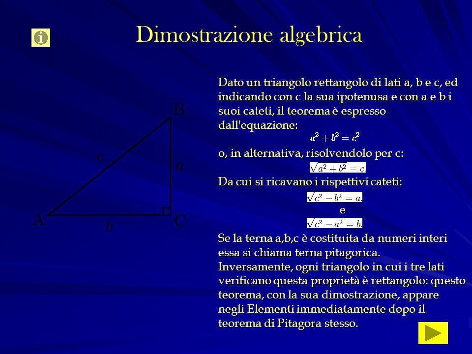 Dimostrazione algebrica