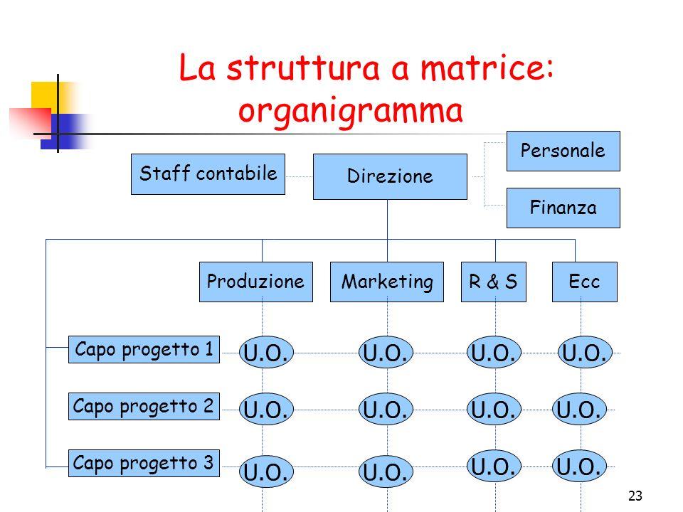 La struttura a matrice: