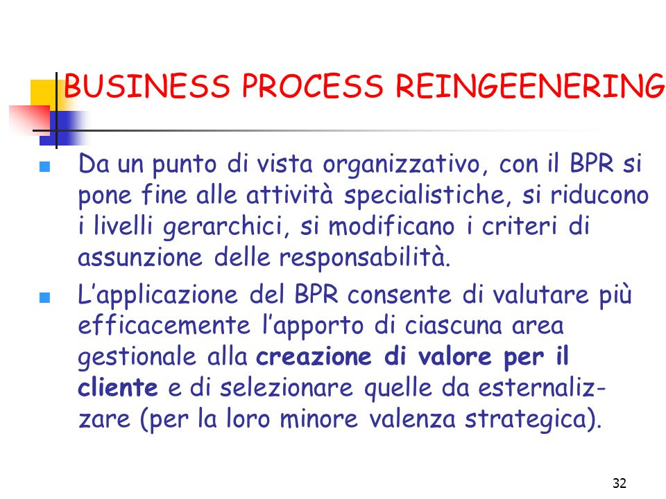 BUSINESS PROCESS REINGEENERING