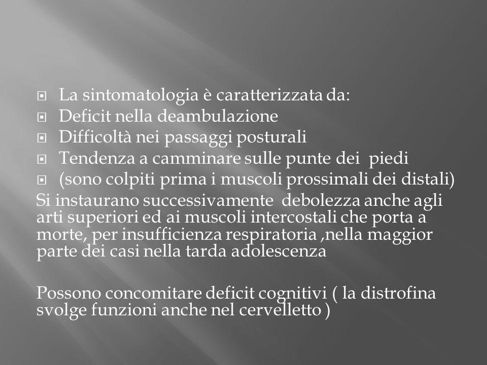 La sintomatologia è caratterizzata da: