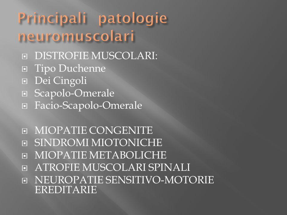 Principali patologie neuromuscolari